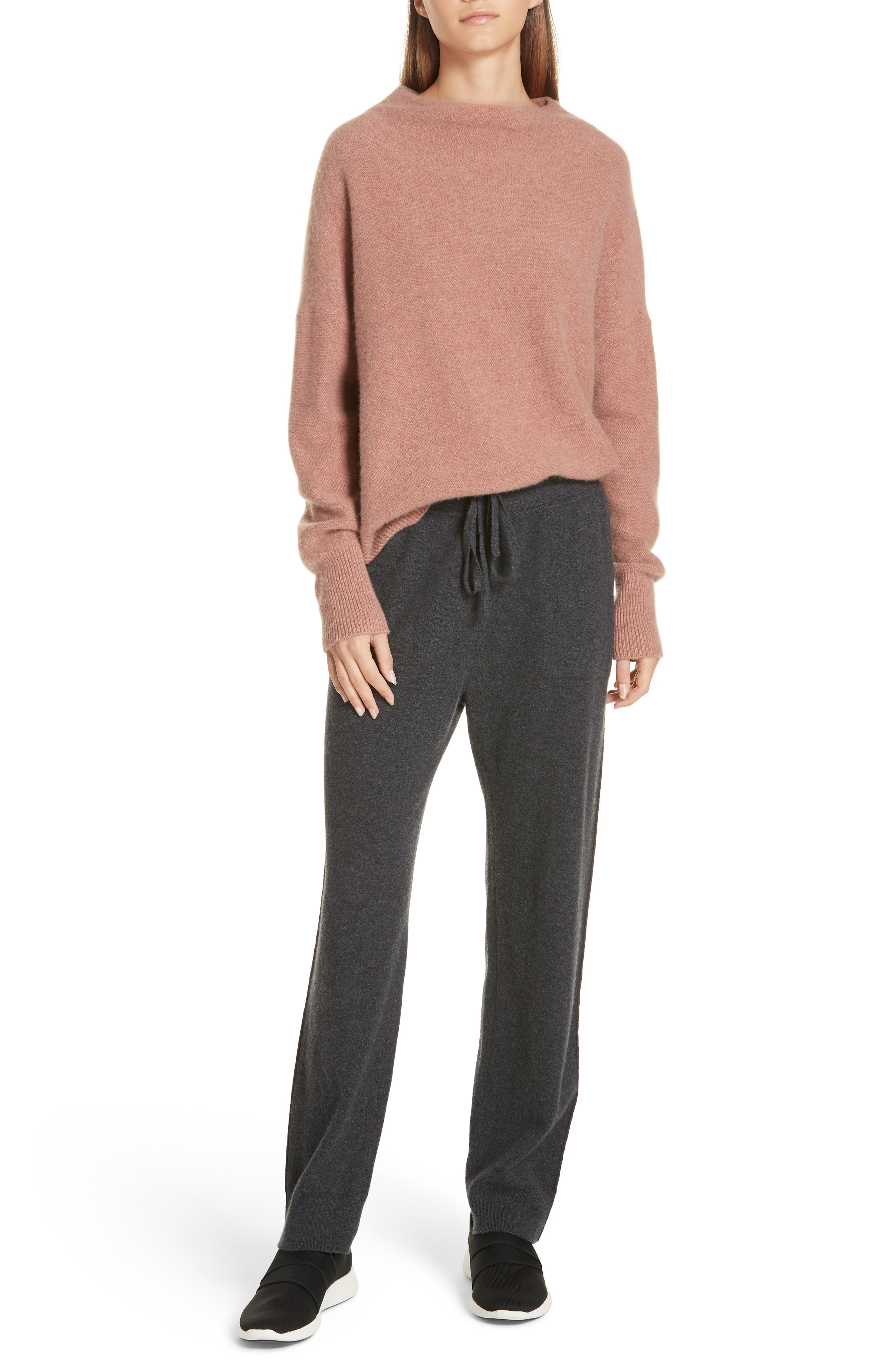 ,                             Funnel Neck Cashmere Sweater,                             Alternate thumbnail 21, color,                             690