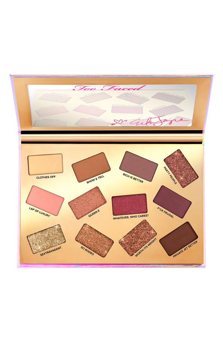 TOO FACED x Erika Jayne Pretty Mess Eyeshadow Palette, Main, color, 000