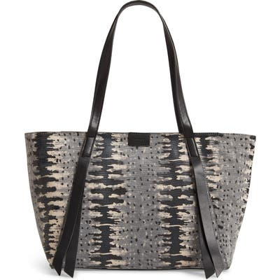 Allsaints Holston East West Leather Tote - Grey