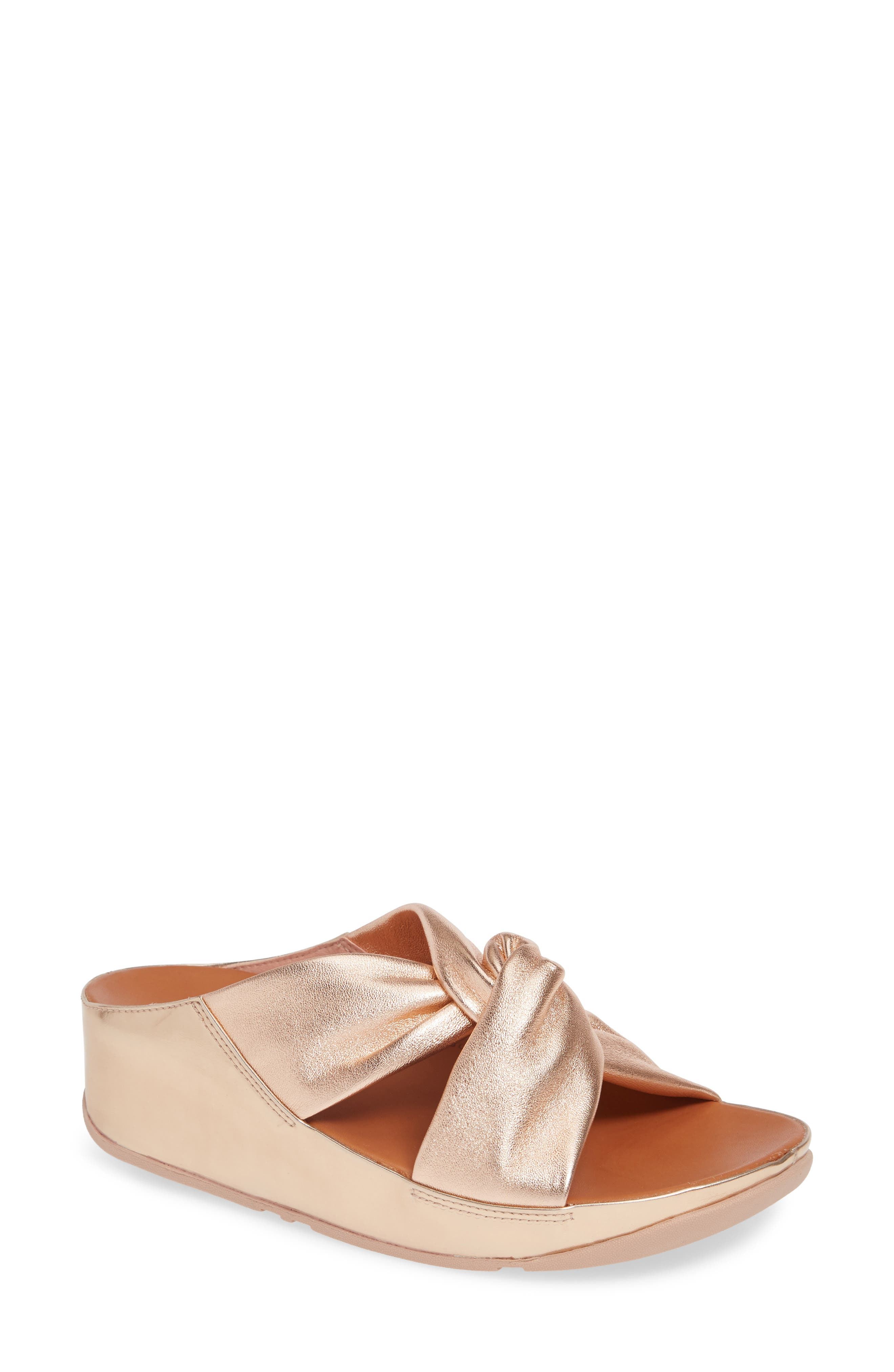 Image of Fitflop Twiss Leather Slide Sandal