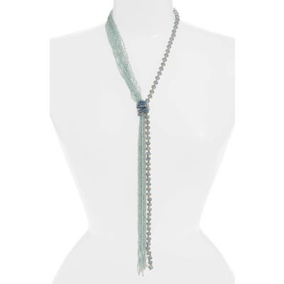 Stella + Ruby Rock Candy Beaded Lariat Necklace