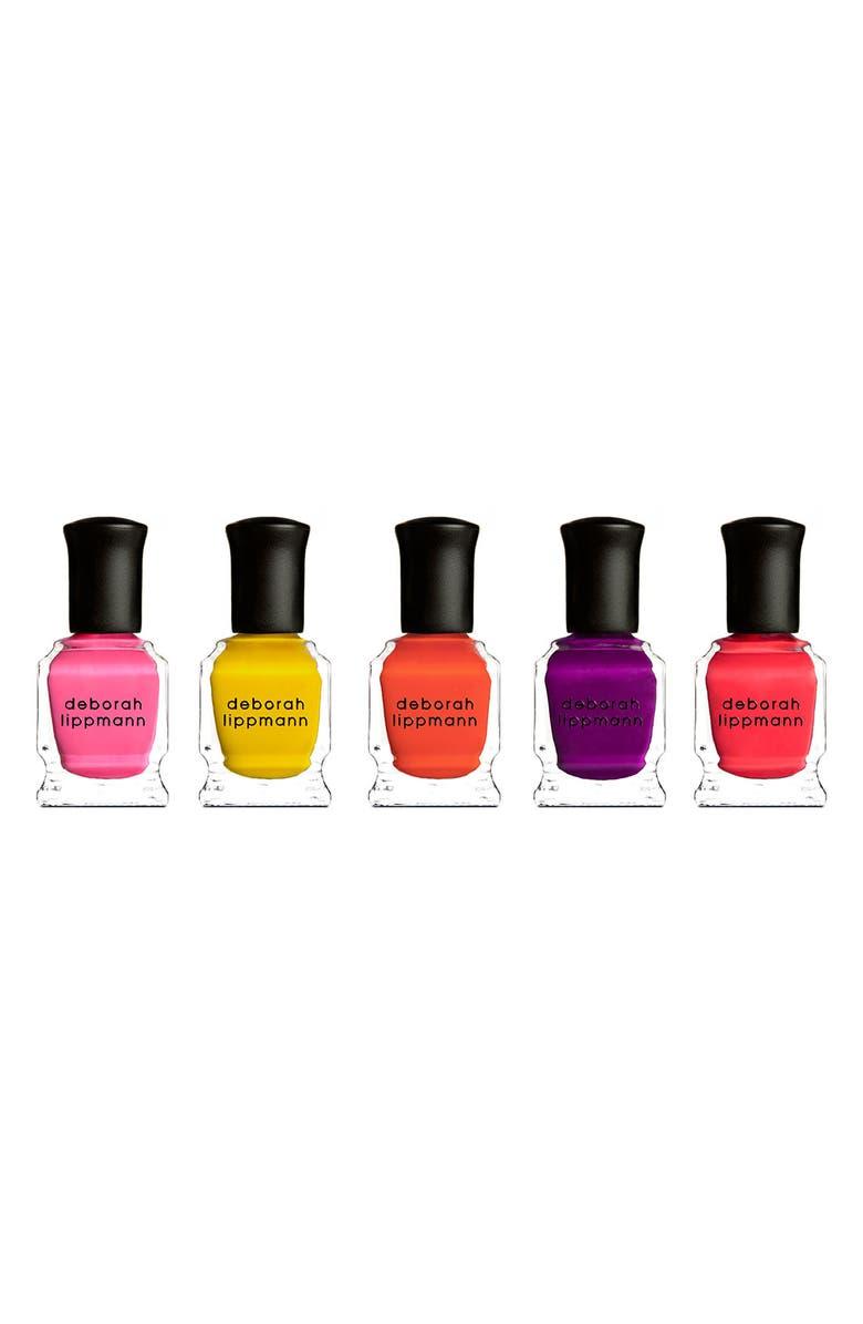 DEBORAH LIPPMANN 'Run the World (Girls)' Neon Mini Nail Lacquer Set, Main, color, 000