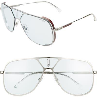 Carrera Eyewear 60Mm Polarized Navigator Sunglasses - Ruthenium Blue