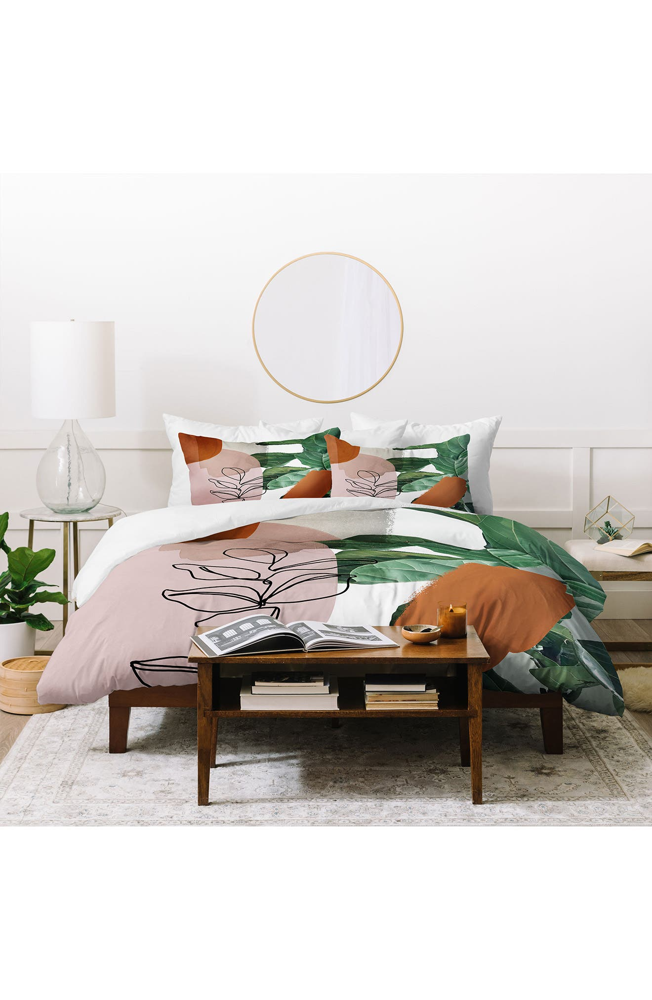 Make your comforter the focal point of the room with this eye-catching and vibrant duvet cover from designer Gale Switzer. A pair of coordinating shams completes the set. Style Name: Deny Designs Gale Switzer Simpatico Duvet Cover & Sham Set. Style Number: 6083332. Available in stores.
