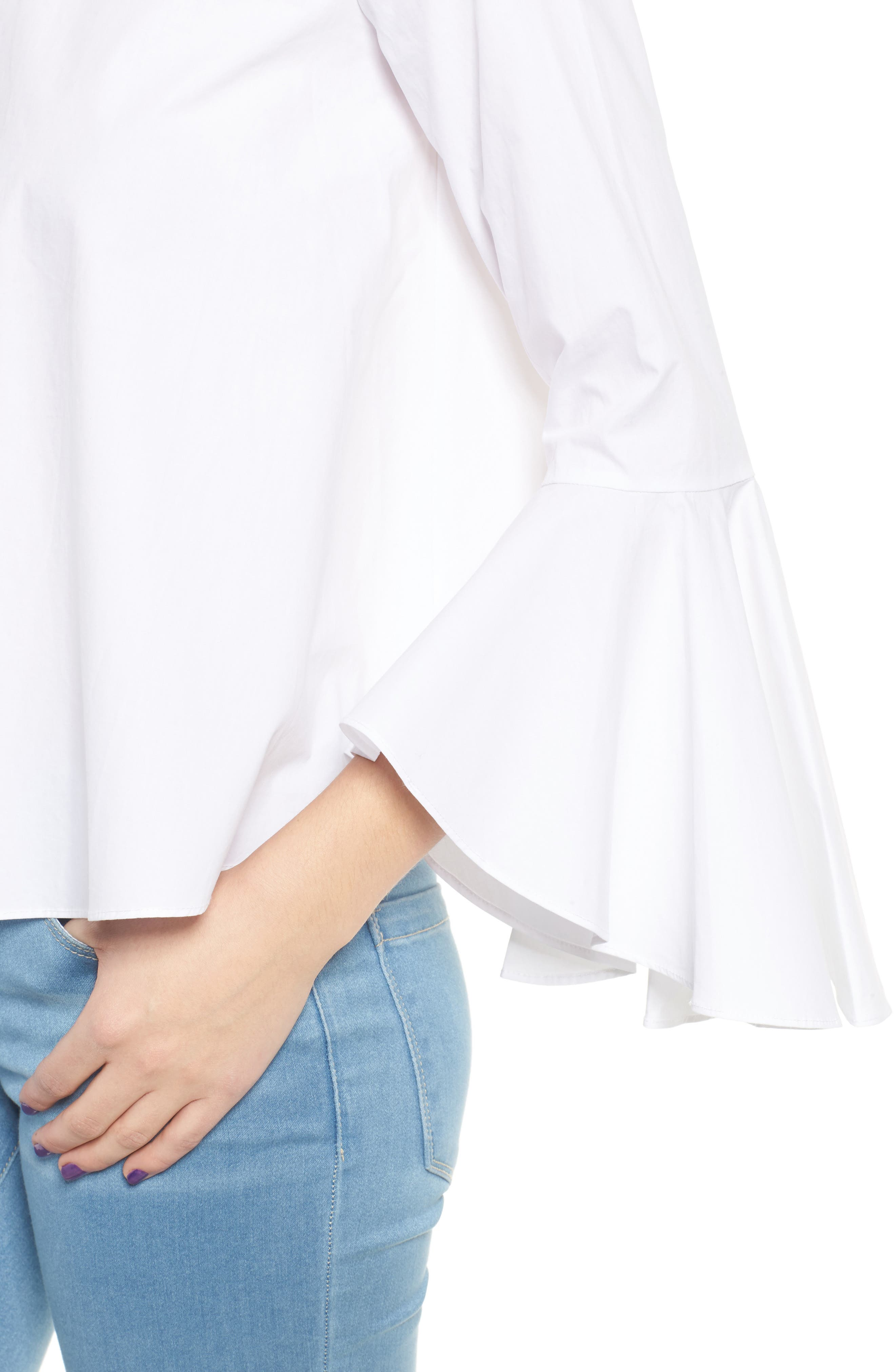 ,                             Bell Sleeve Top,                             Alternate thumbnail 4, color,                             100