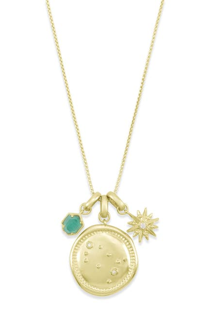 Image of Kendra Scott 14K Gold Plated Gemini Charm Necklace