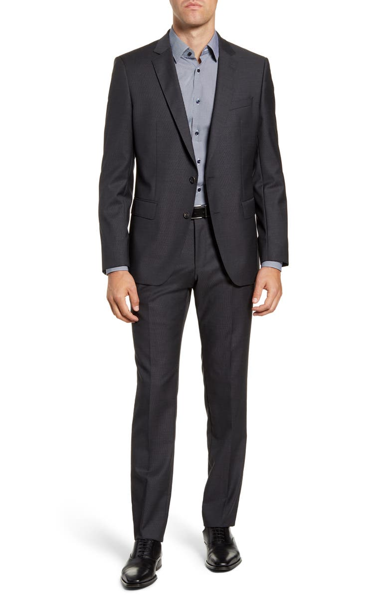 BOSS Huge/Genius Trim Fit Dot Wool Suit, Main, color, 069