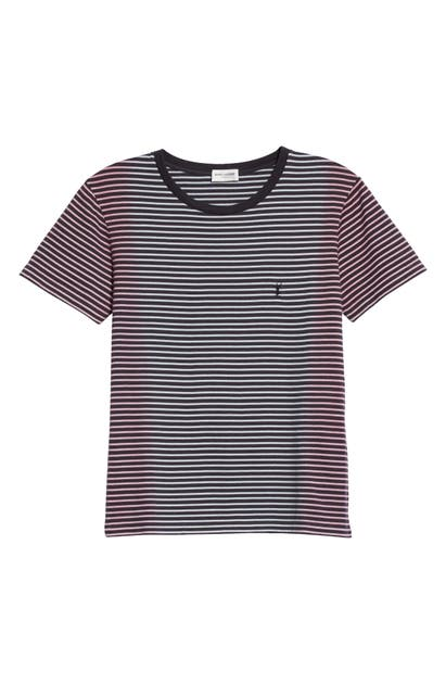 Saint Laurent STRIPE TIE DYE COTTON TEE