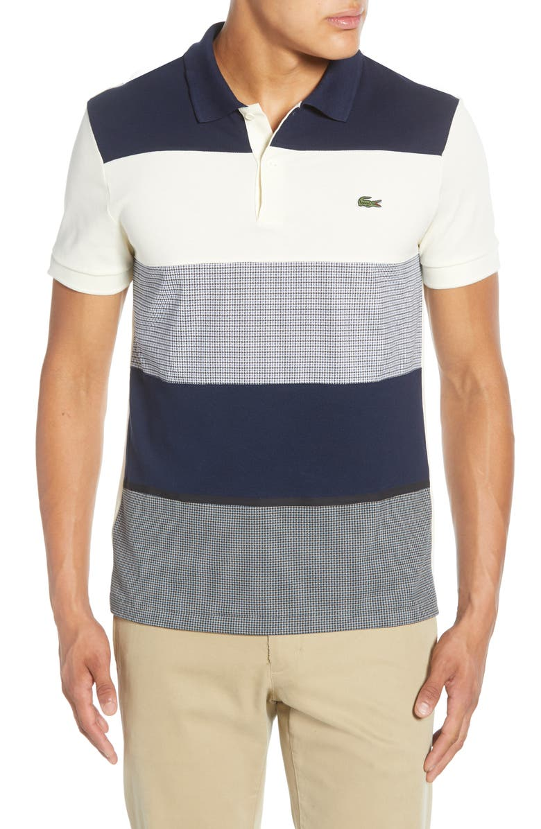 LACOSTE Colorblock Piqué Polo, Main, color, 400