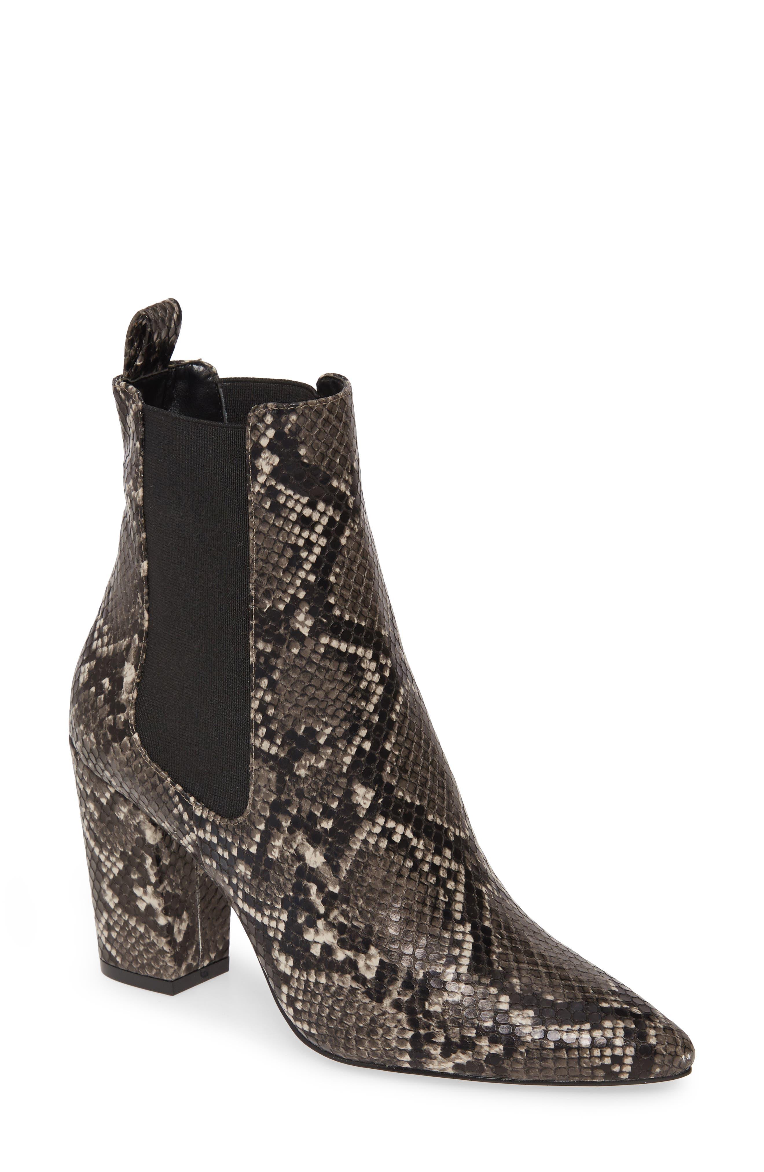 Steve Madden Subtle Snake Embossed Chelsea Boot (Women)