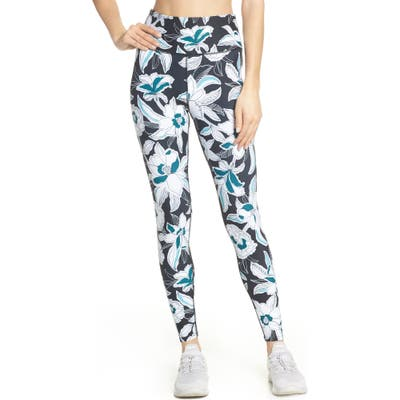 Soul By Soulcycle High Waist Floral Tights, Black