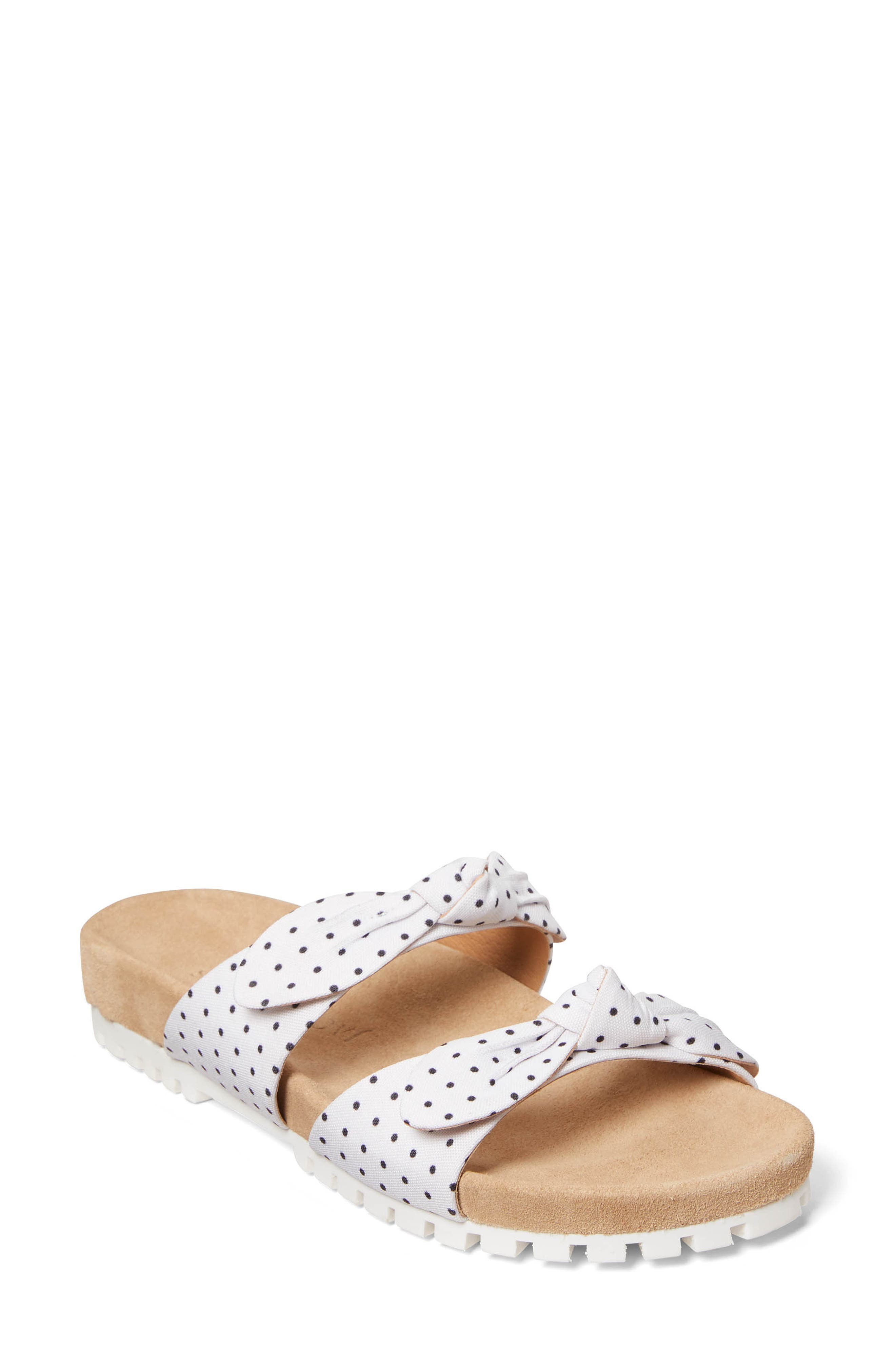 Rose Double Knot Slide Sandal