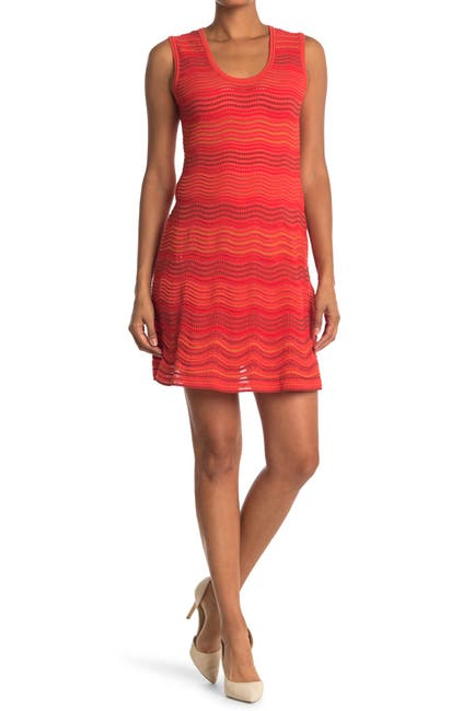 Image of M Missoni Scallop Print U-Neck Dress