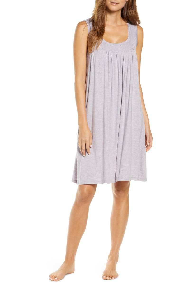 PAPINELLE Pleated Chemise, Main, color, LILAC