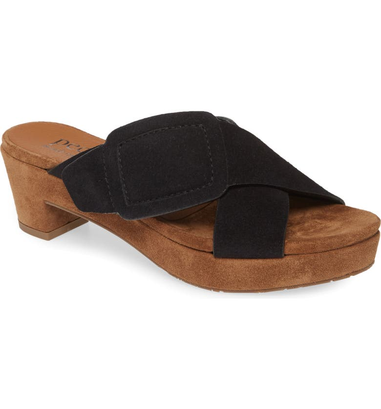 PEDRO GARCIA Nanette Platform Sandal, Main, color, BLACK
