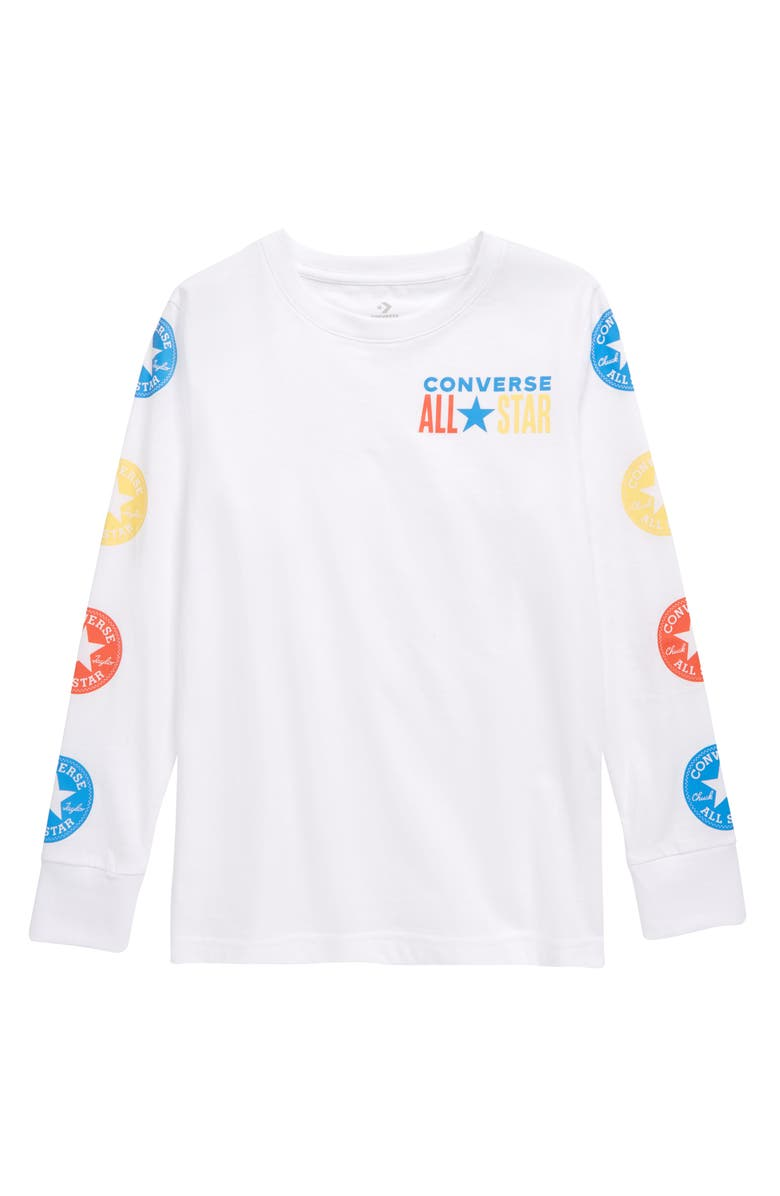 CONVERSE Chuck Taylor<sup>®</sup> All Star<sup>®</sup> Graphic Tee, Main, color, WHITE