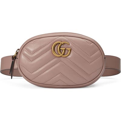 Gucci Matelasse Leather Belt Bag - Beige