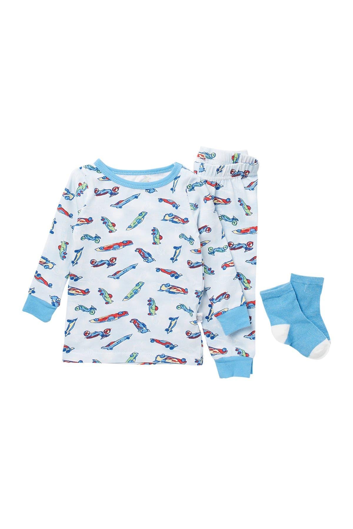 Image of CLOUD NINE 3-Piece Pajama Set with Socks