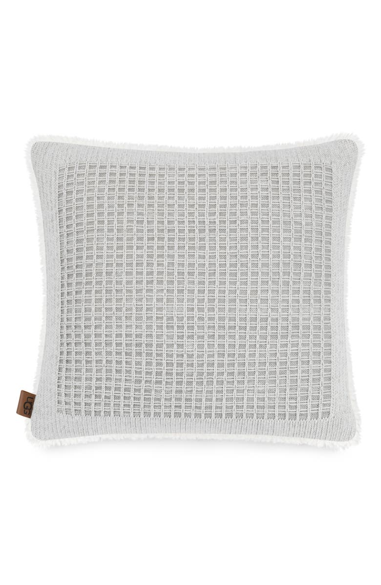 UGG<SUP>®</SUP> Martin Knit Accent Pillow, Main, color, SEAL/ SNOW