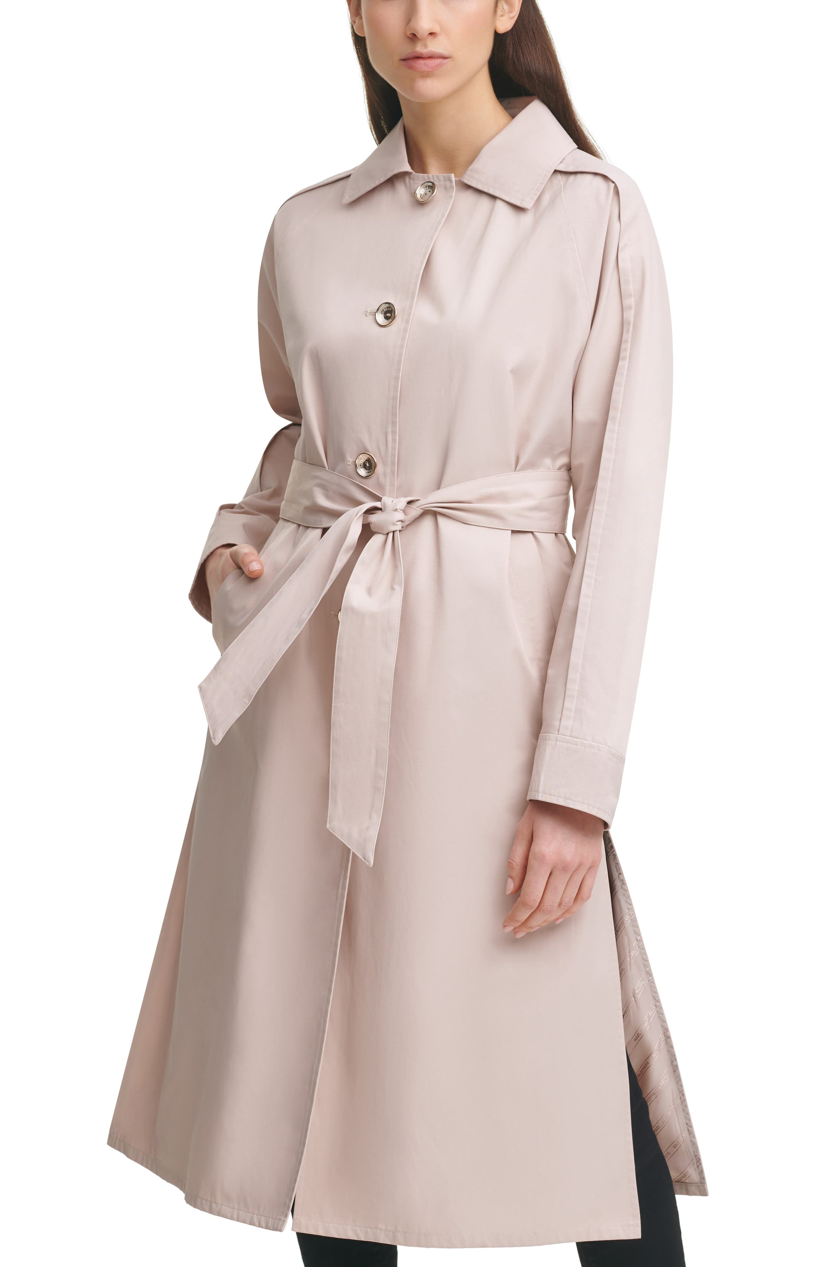 Dolman Sleeve Trench Cotton Blend Coat