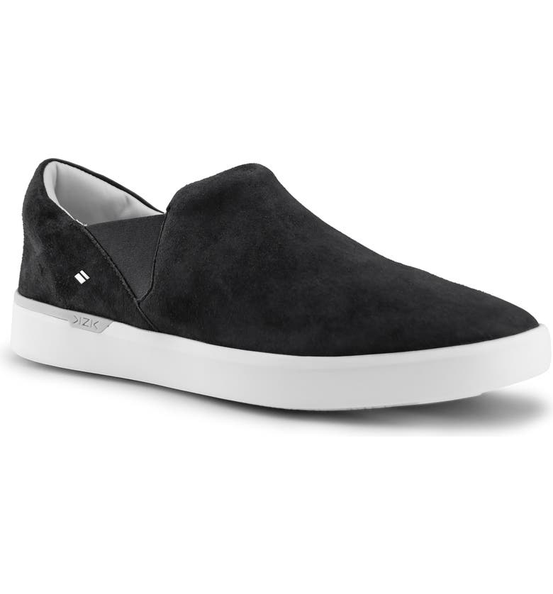 KIZIK Paris Hands-Free Slip-On Sneaker, Main, color, BLACK SUEDE