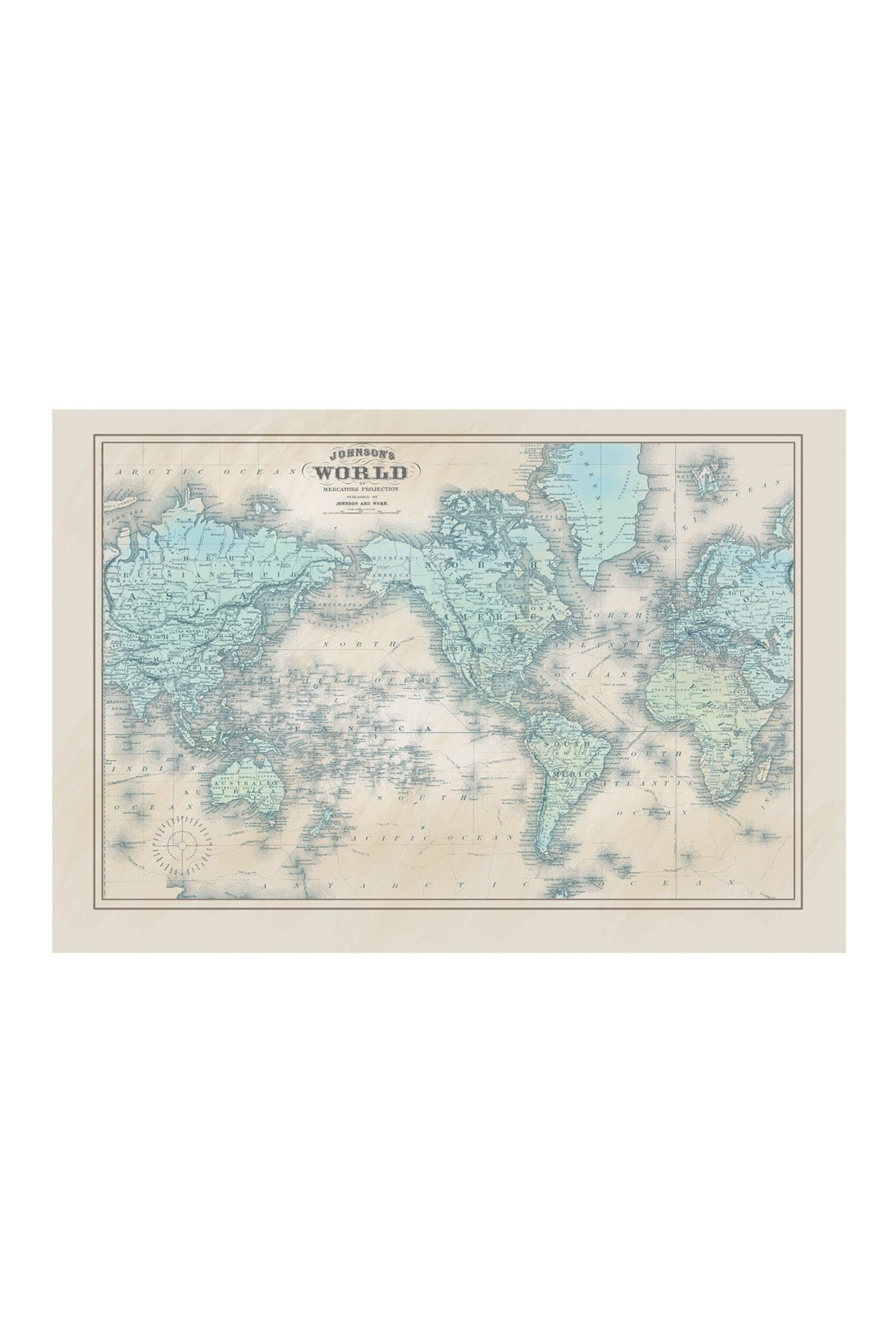 "Image of COURTSIDE MARKET Vintage Maps II 45"" x 67"" Mural"