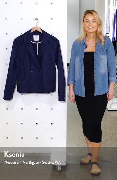 Double Breasted Utility Jacket Regular & Petite), sales video thumbnail