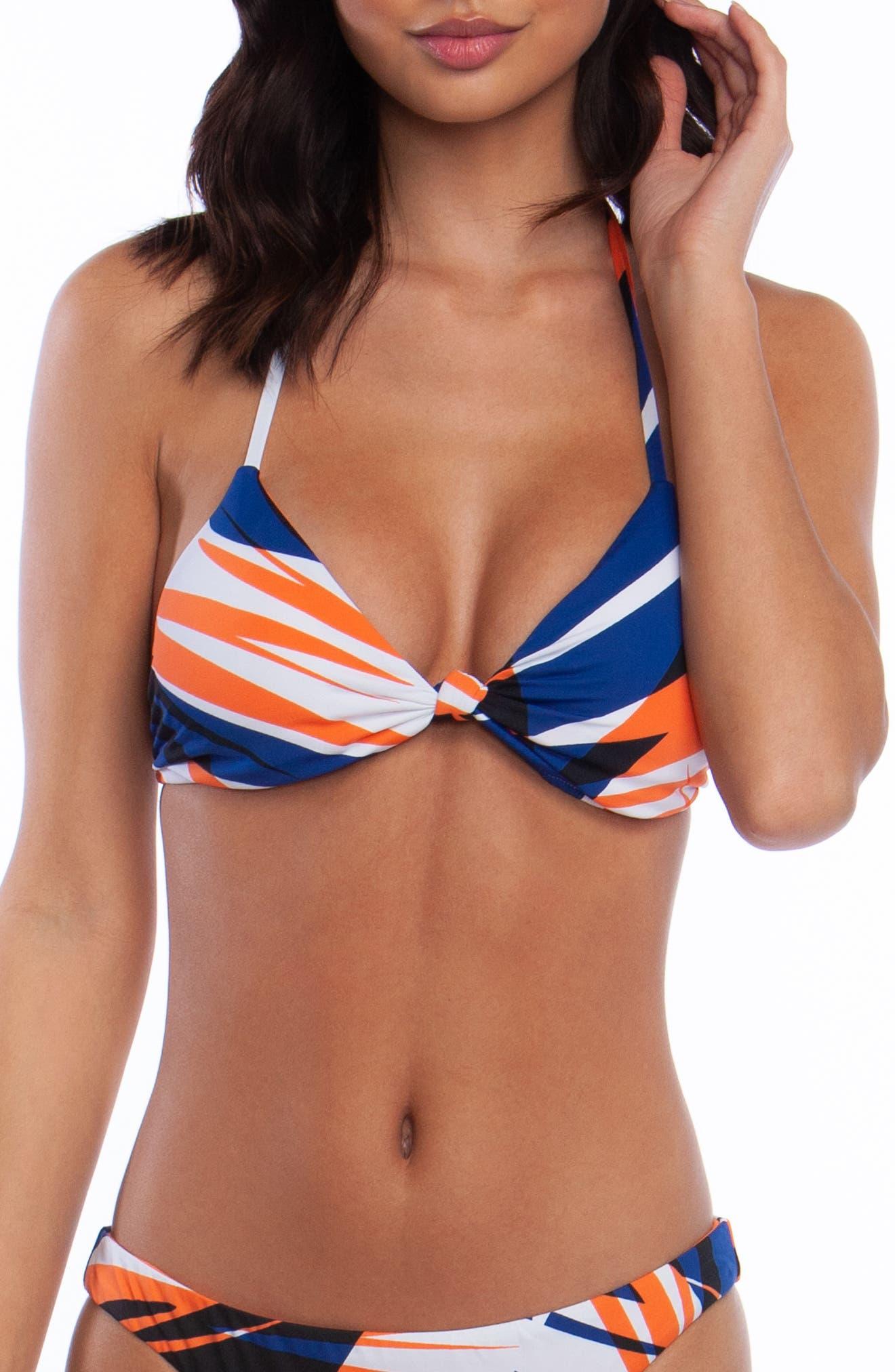 The Bikini Lab Sonic Boom Triangle Bikini Top, White
