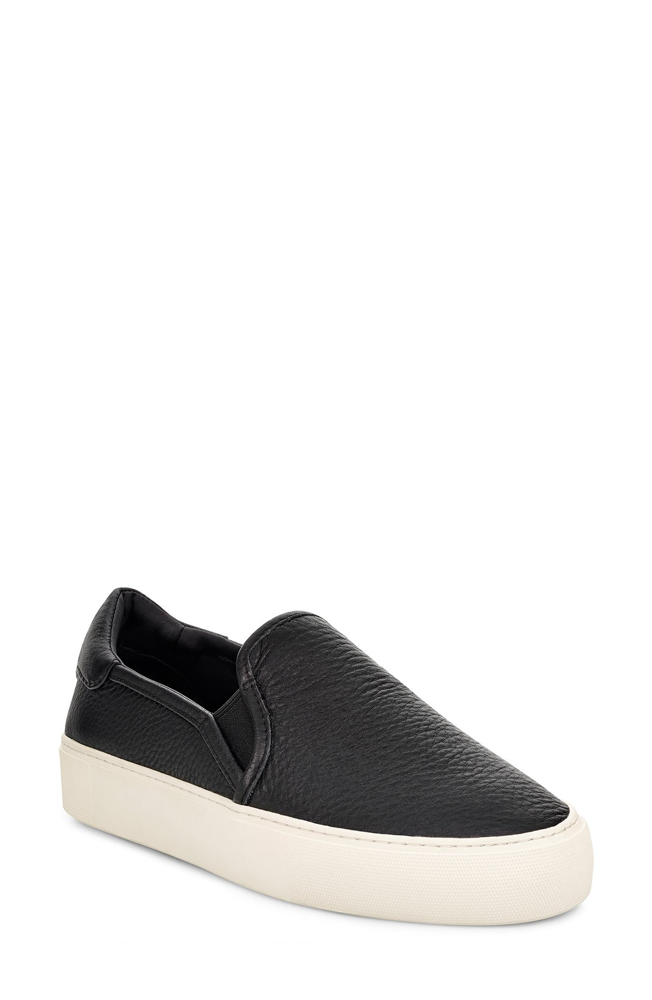 A classic skate-inspired silhouette distinguishes this street-chic slip-on sneaker grounded by a platform rubber sole. Style Name: UGG Jass Slip-On Sneaker (Women). Style Number: 5829549 3. Available in stores.