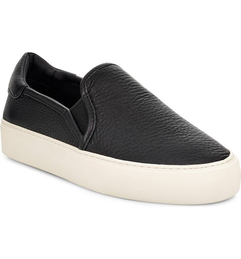 UGG<SUP>®</SUP> Jass Slip-On Sneaker, Main, color, BLACK LEATHER
