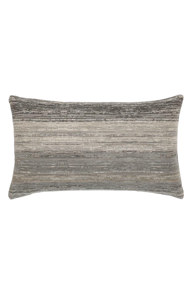 ELAINE SMITH Textured Grigio Indoor/Outdoor Lumbar Accent Pillow, Main, color, GRAY