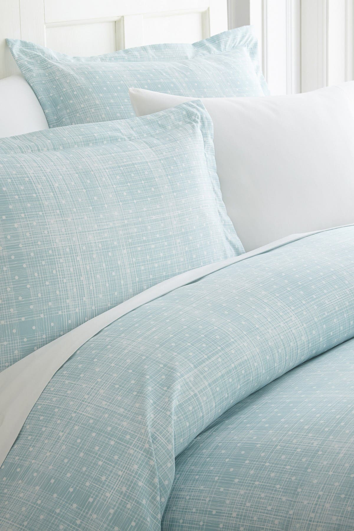 Ienjoy Home Home Spun Premium Ultra Soft Polka Dot Pattern 3-piece Duvet Cover King Set In Aqua