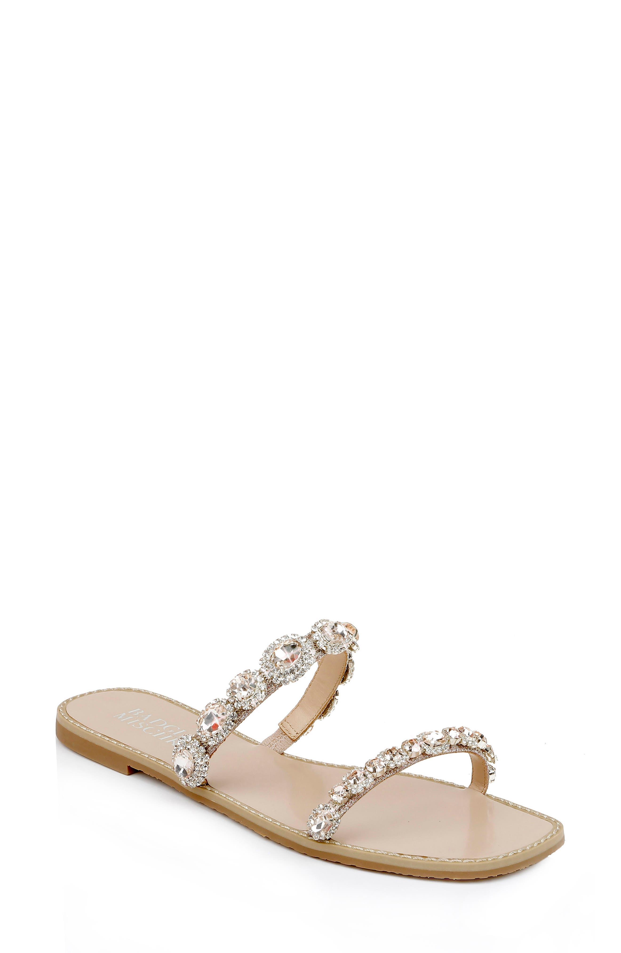 Reed Embellished Slide Sandal