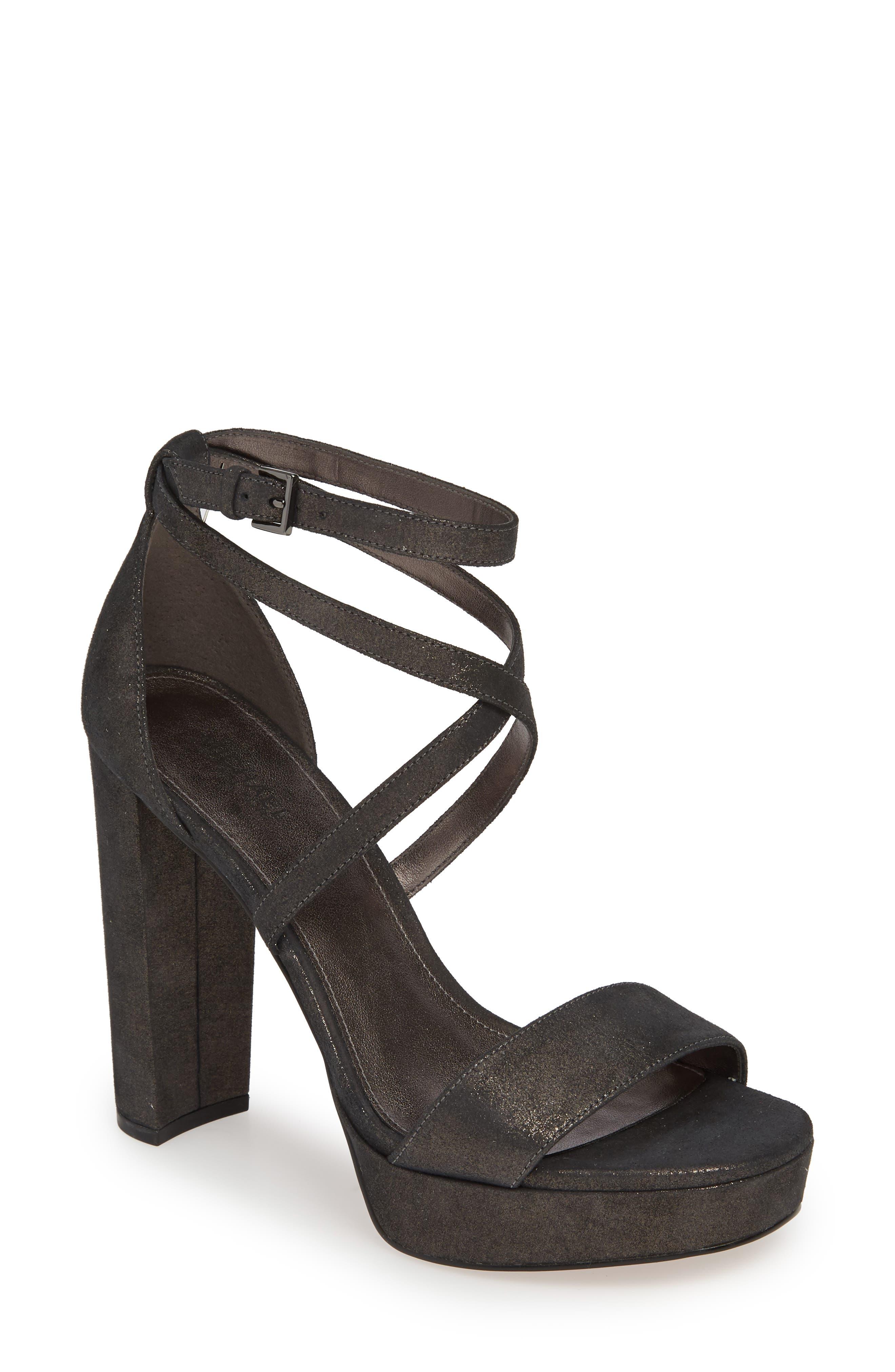 Michael Michael Kors Charlize Strappy Platform Sandal- Metallic