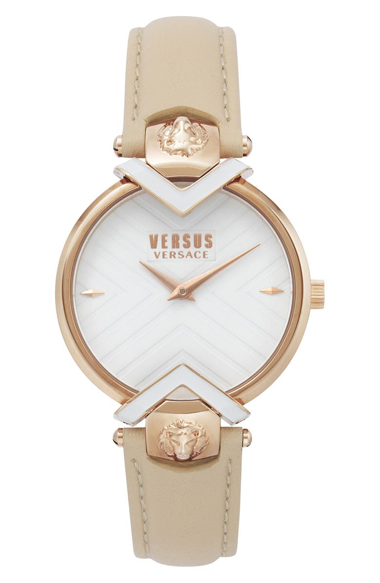 VERSUS Versace Mabillon Leather Strap Watch 36mm