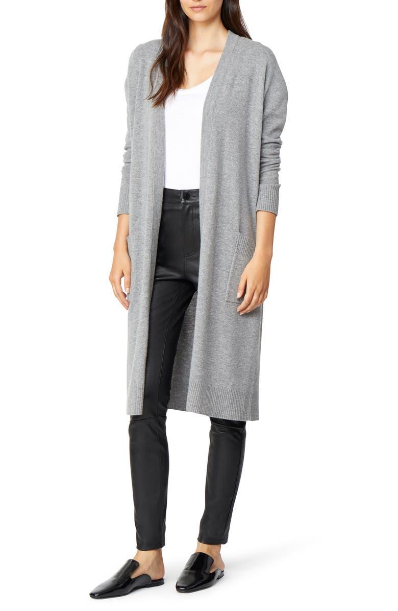 HABITUAL Ysabel Long Wool & Cashmere Cardigan, Main, color, 062