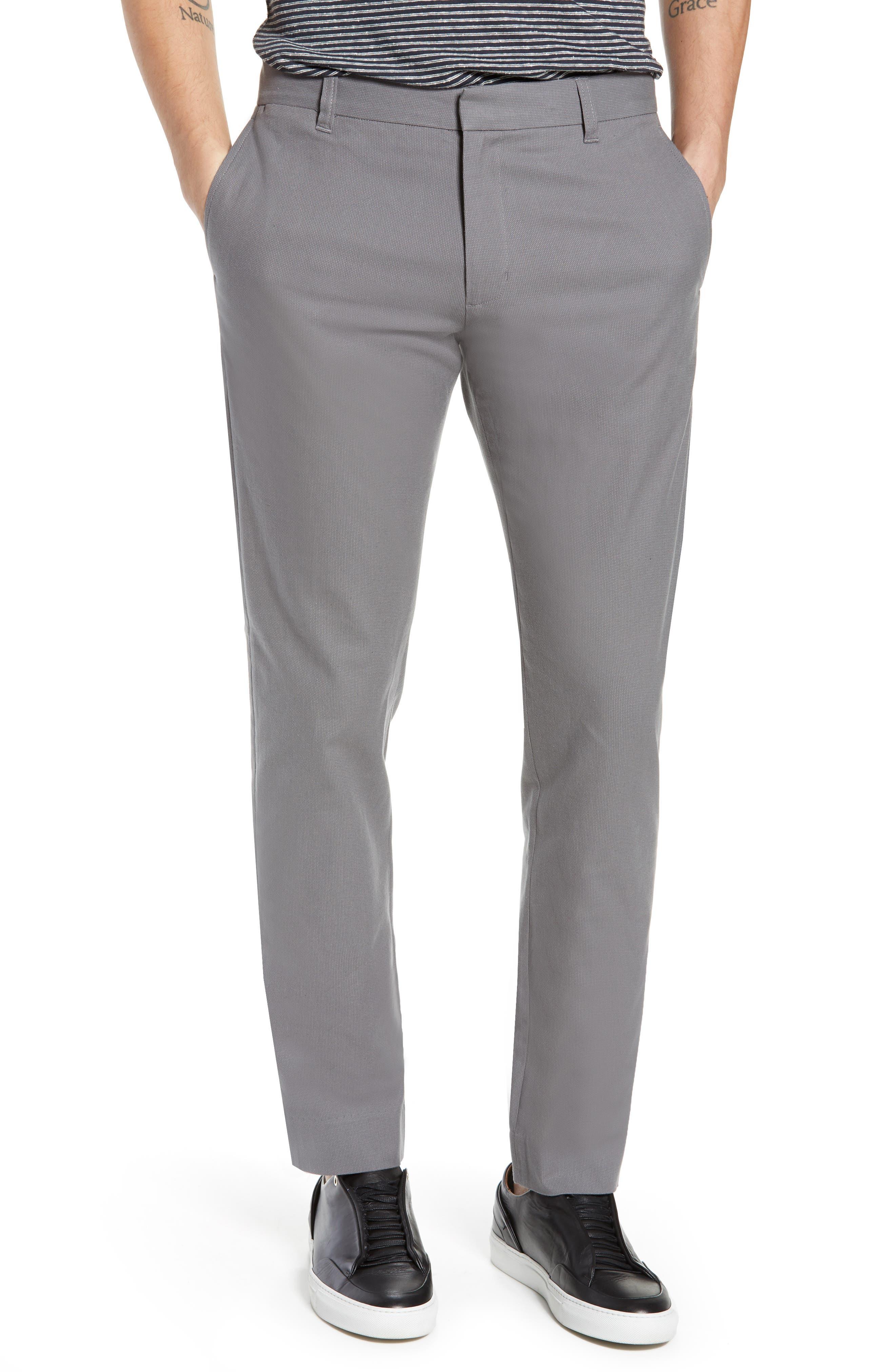 Griffith Slim Cut Pants, Main, color, SLATE