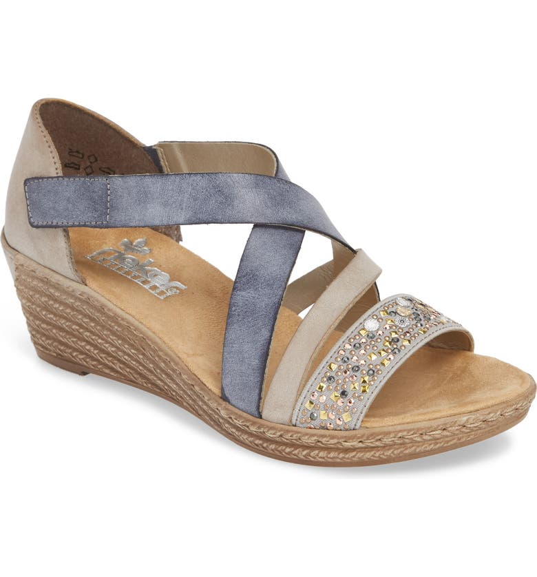 RIEKER ANTISTRESS Fanni Wedge Sandal, Main, color, 400