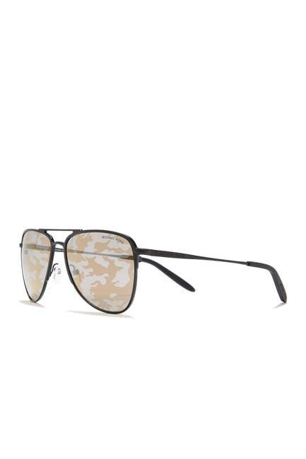 Image of Michael Kors Print Lens Aviator Sunglasses