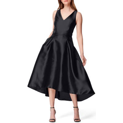 Tahari High/low Mikado Cocktail Dress