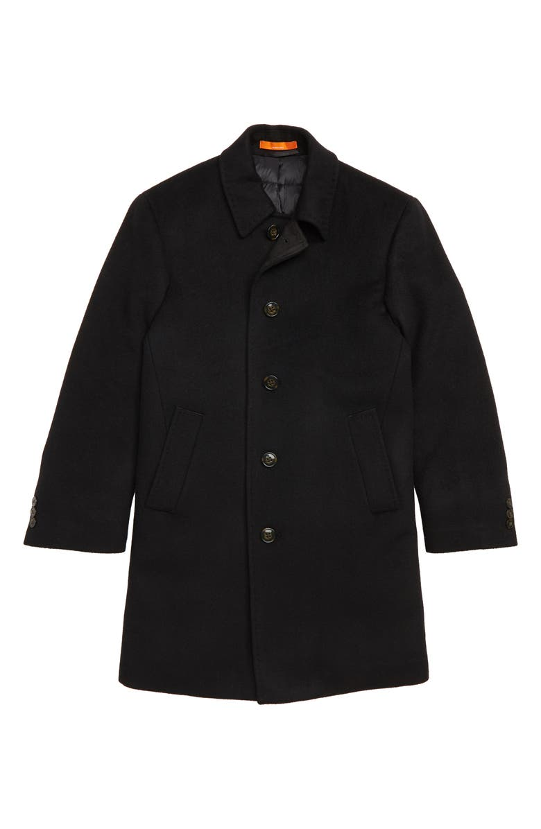 TALLIA Down Insulated Wool Blend Coat, Main, color, BLACK