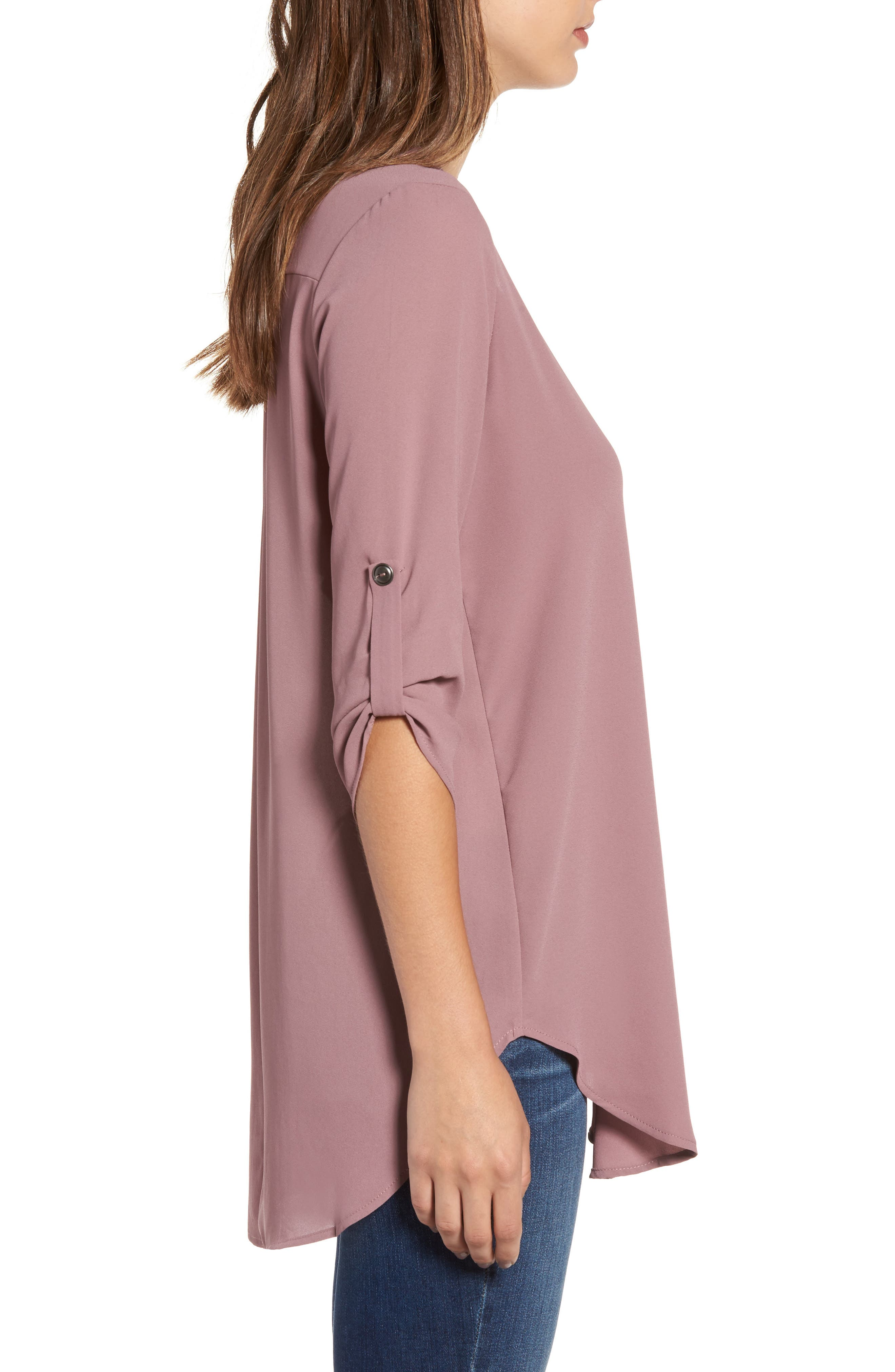 ,                             Perfect Roll Tab Sleeve Tunic,                             Alternate thumbnail 122, color,                             520