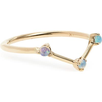 Wwake Counting Collection Three-Step Triangle Opal Ring