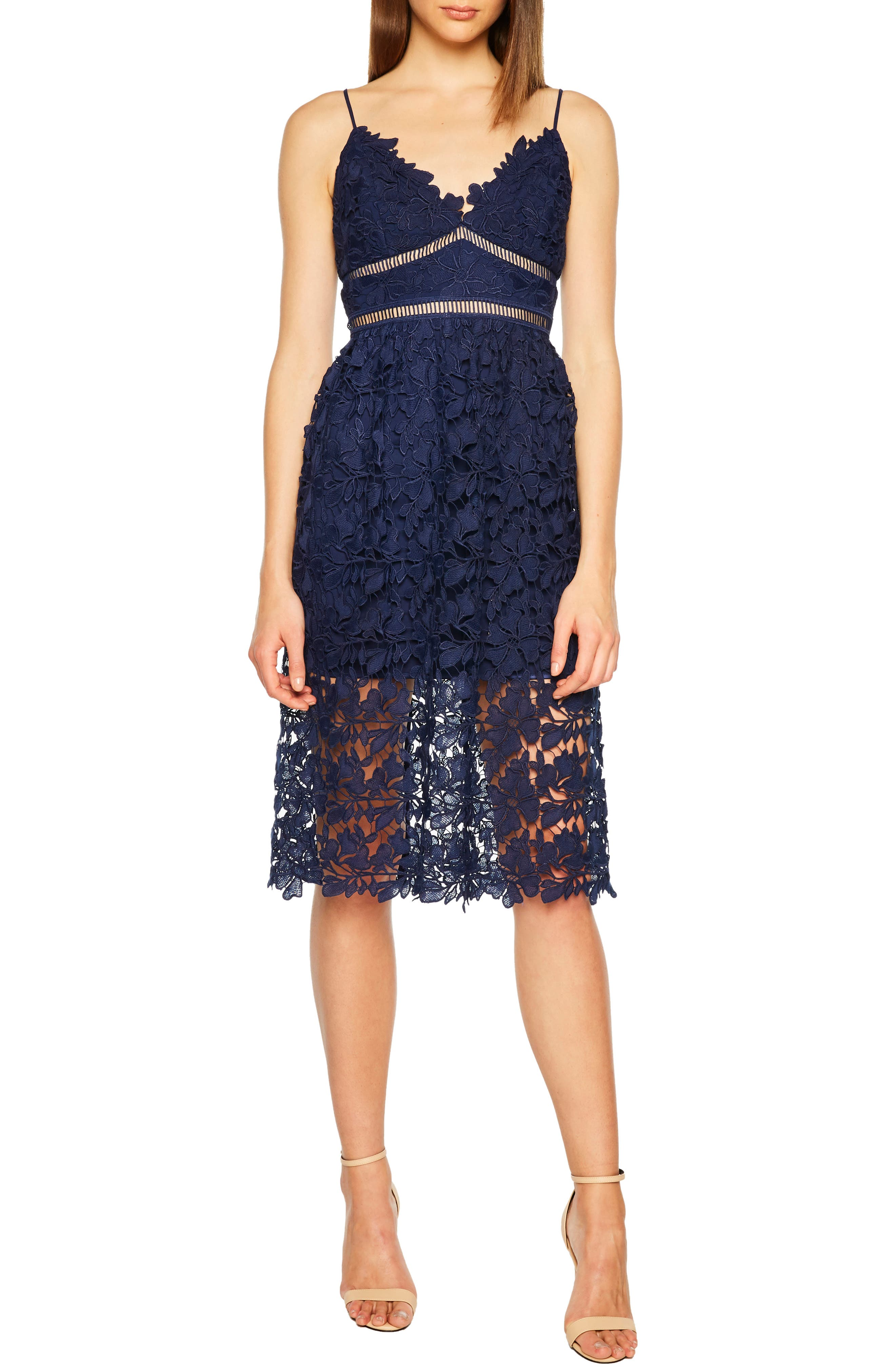 Sonya Lace Cocktail Dress, Main, color, 410