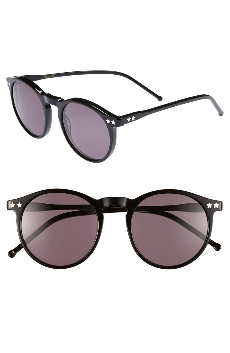 WILDFOX 'Steff' 50mm Sunglasses, Main, color, 001