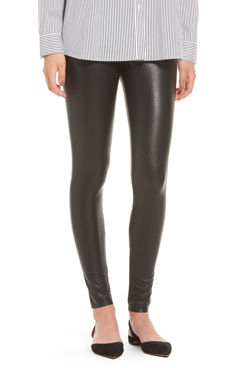 COMMANDO Perfect Control Faux Leather Leggings, Main, color, BLACK