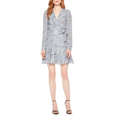 Parker Miles Silk-Blend Faux Wrap Dress, Blue