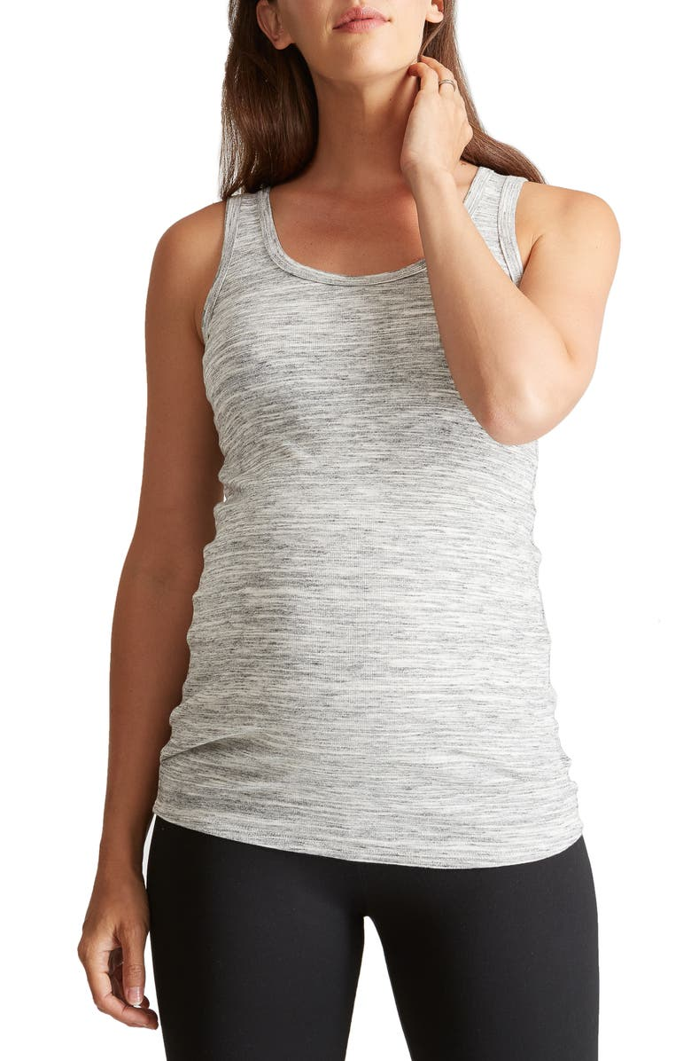 INGRID & ISABEL<SUP>®</SUP> Scoop Neck Maternity Tank, Main, color, GREY SWEPT MARBLE