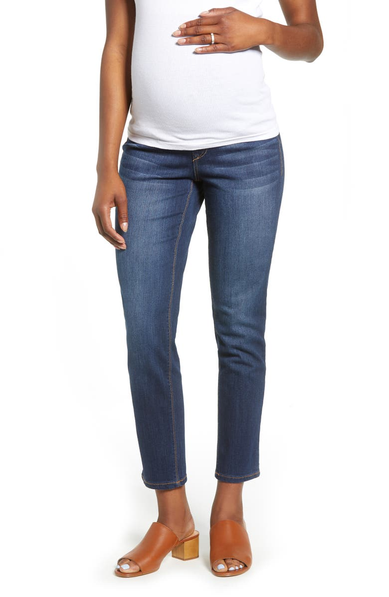 1822 DENIM Straight Leg Maternity Jeans, Main, color, LENNOX
