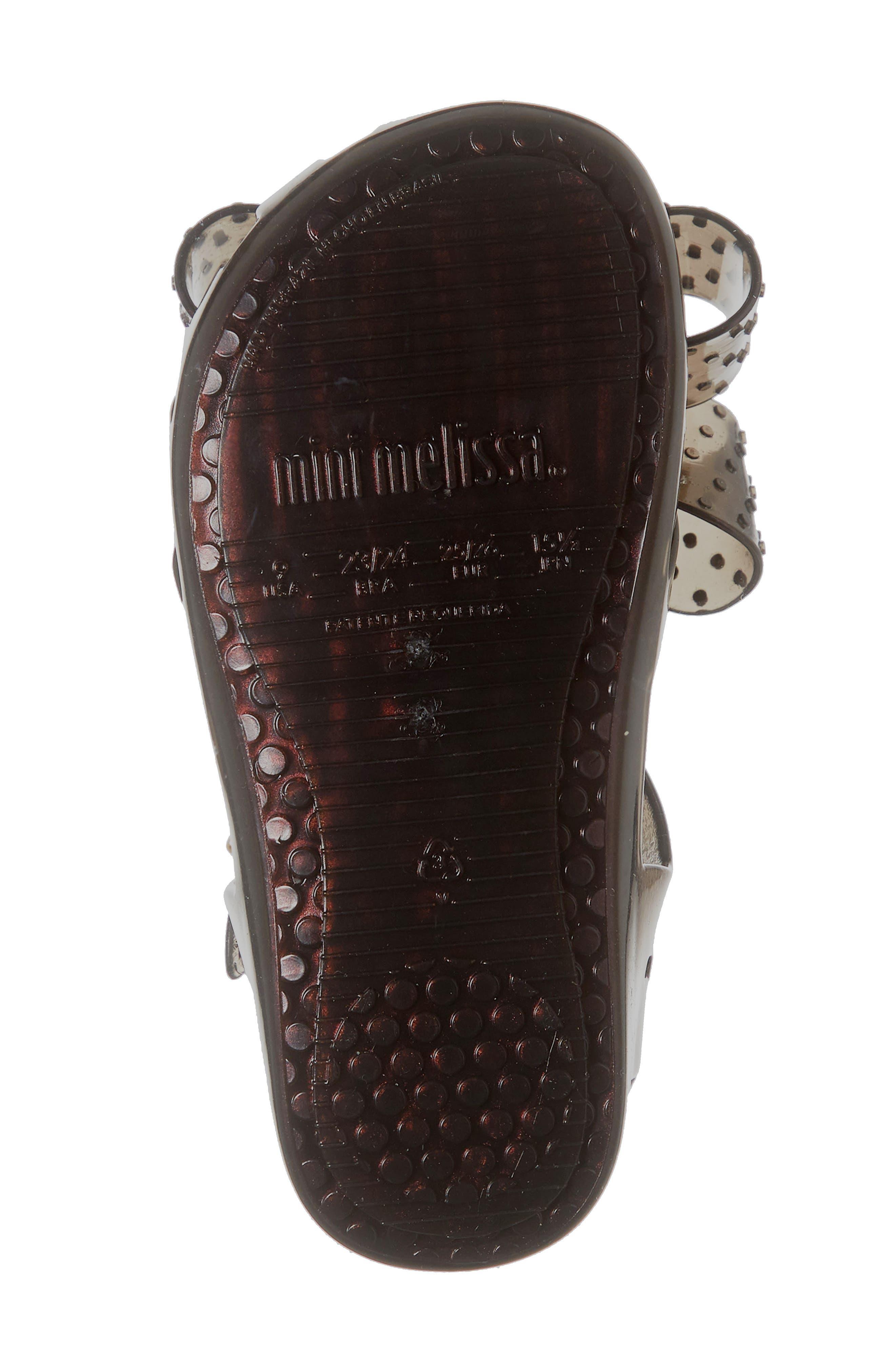 ,                             Aranha XIII Bow T-Strap Sandal,                             Alternate thumbnail 6, color,                             BLACK IRIDESCENT
